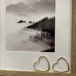 🥂Modern Sex & The City Vibes hoop Heart Earrings